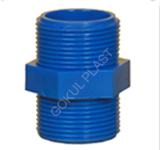 pp threaded hex nipple manufacturer in ahmedabad
